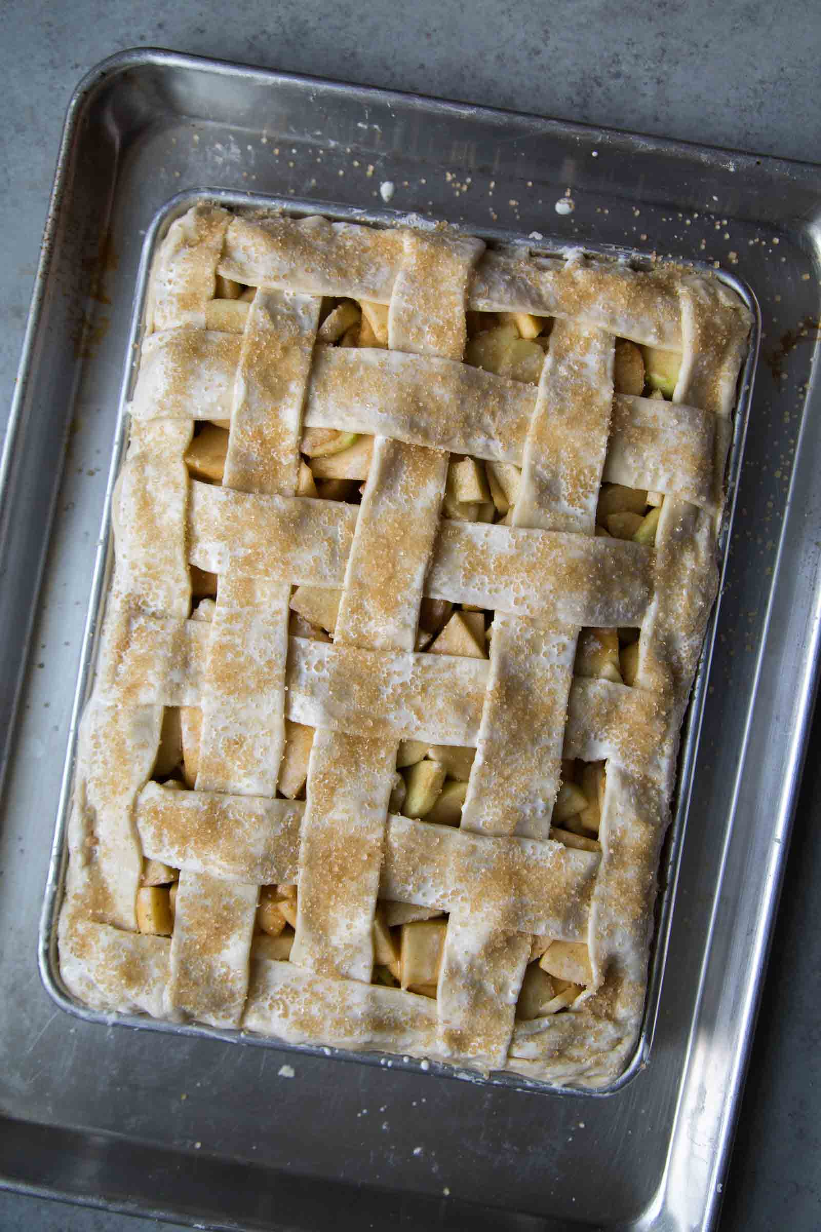 Apple Slab Pie with Maple Glaze