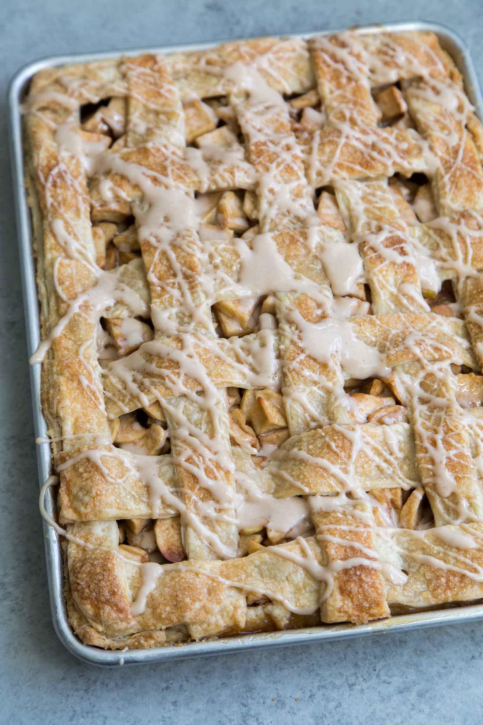 Apple Slab Pie with Maple Glaze