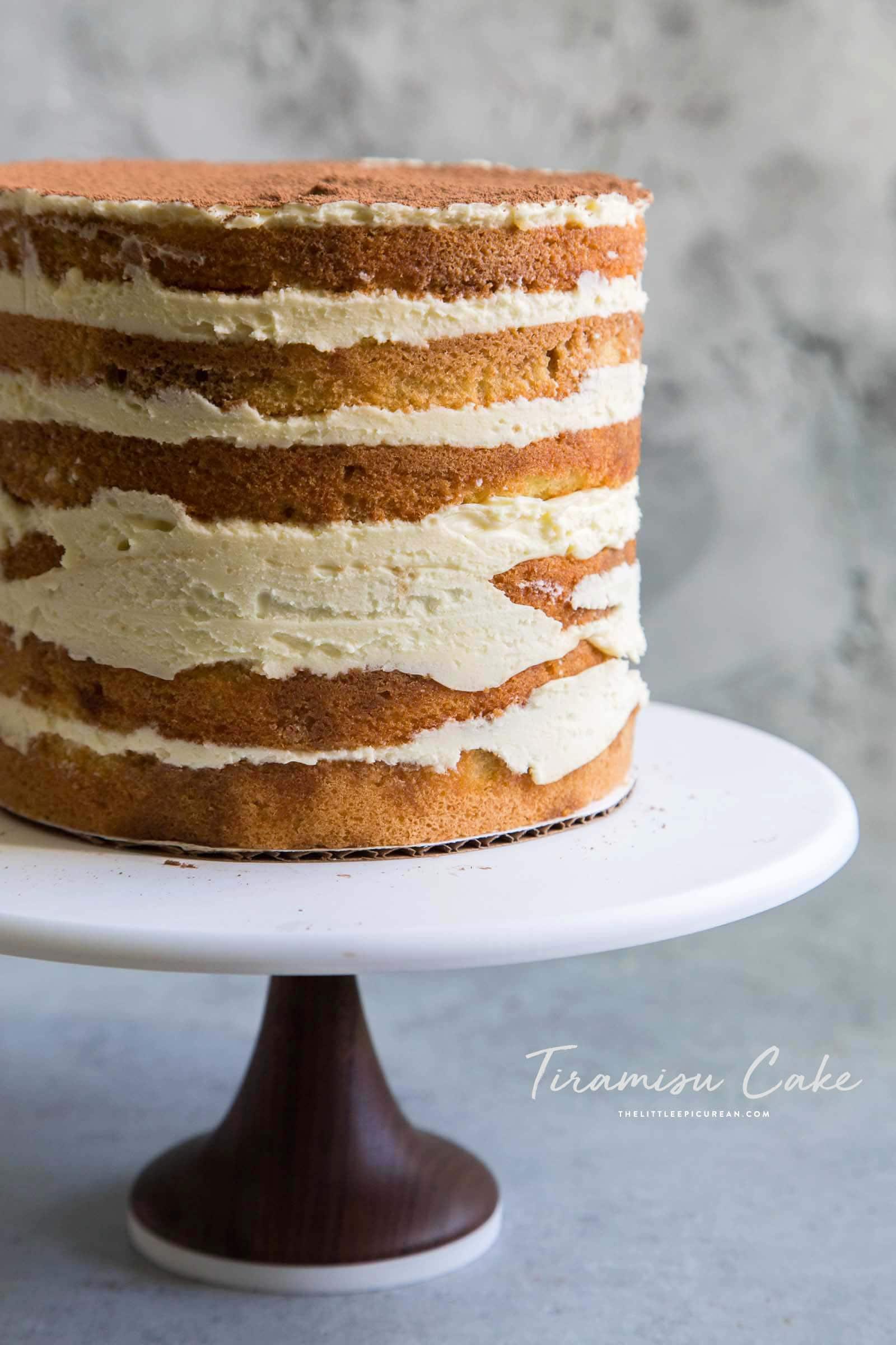 Tiramisu Cake with Mascarpone Sabayon The Little Epicurean
