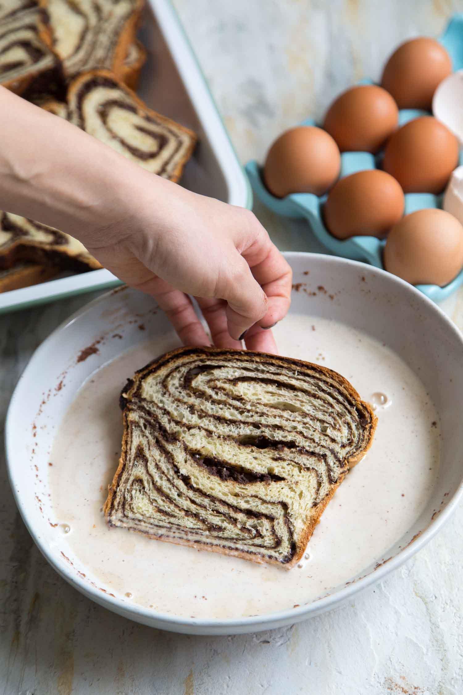 Chocolate Babka French Toast