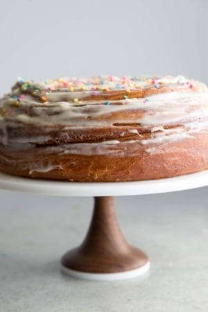 Birthday Cinnamon Roll Cake