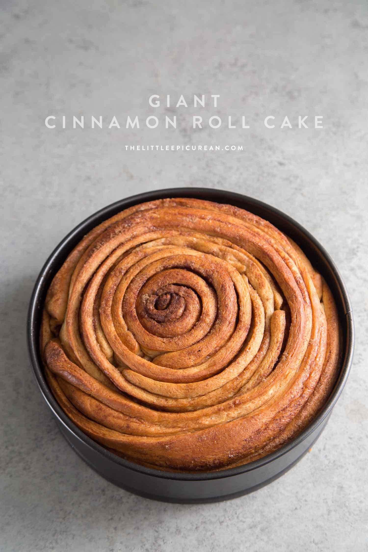 Giant Cinnamon Roll Cake