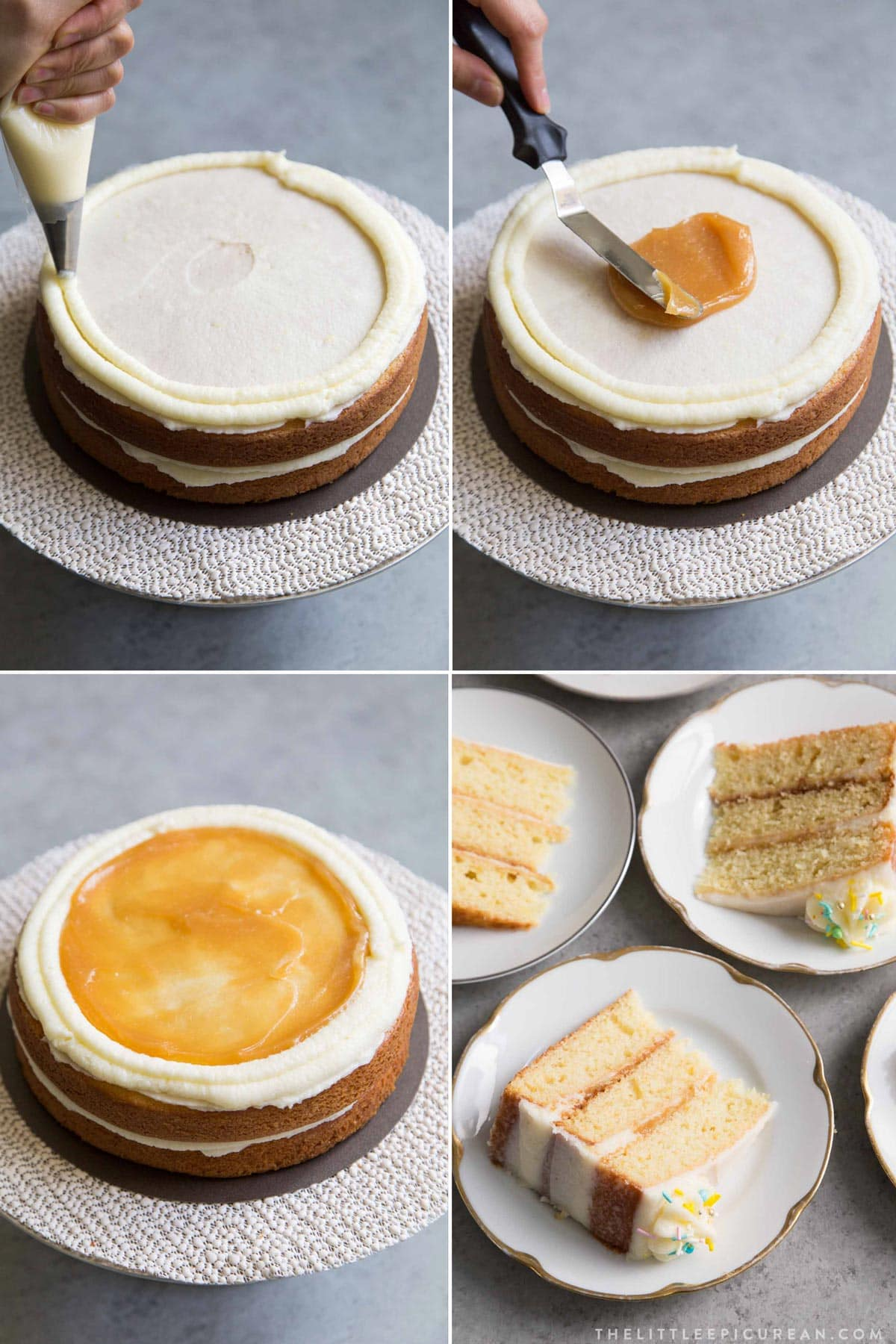 Lemon Layer Cake with Mascarpone Buttercream