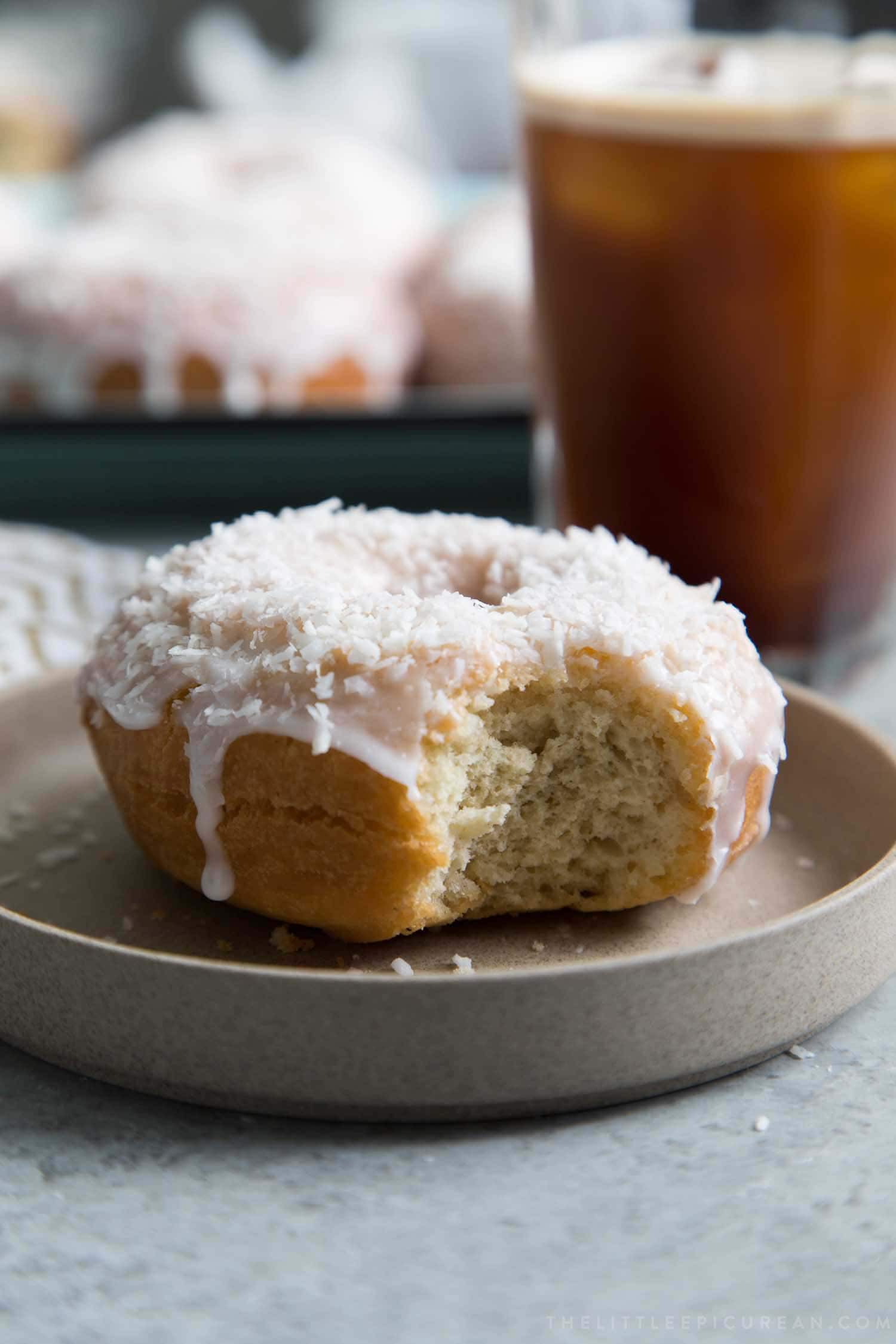 Coconut Cake Doughnuts with Coconut Milk Glaze
