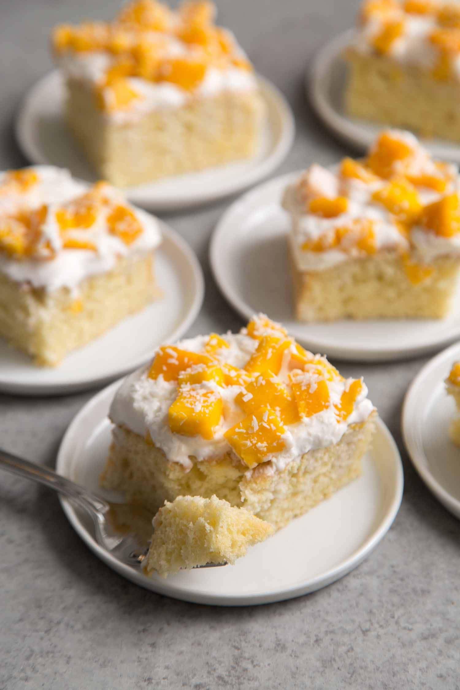 Mango Coconut Sheet Cake