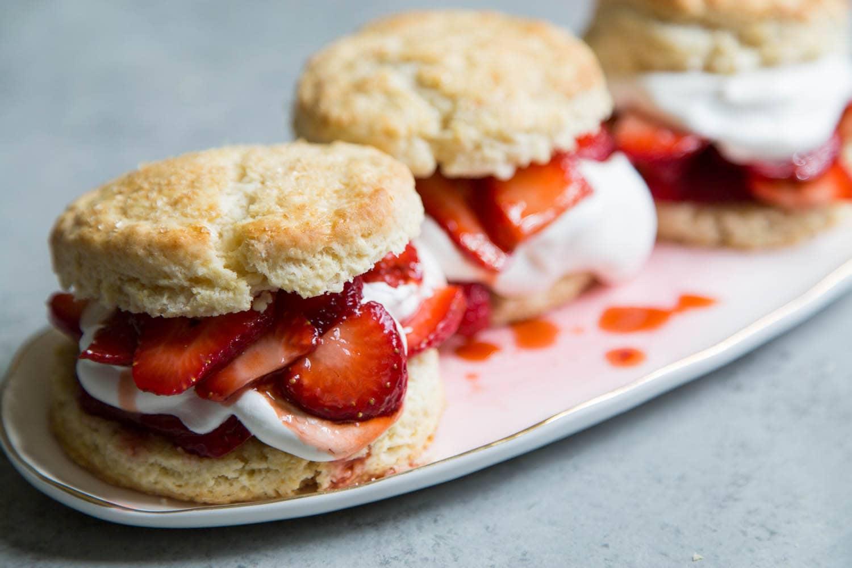 Balsamic Strawberry Shortcake