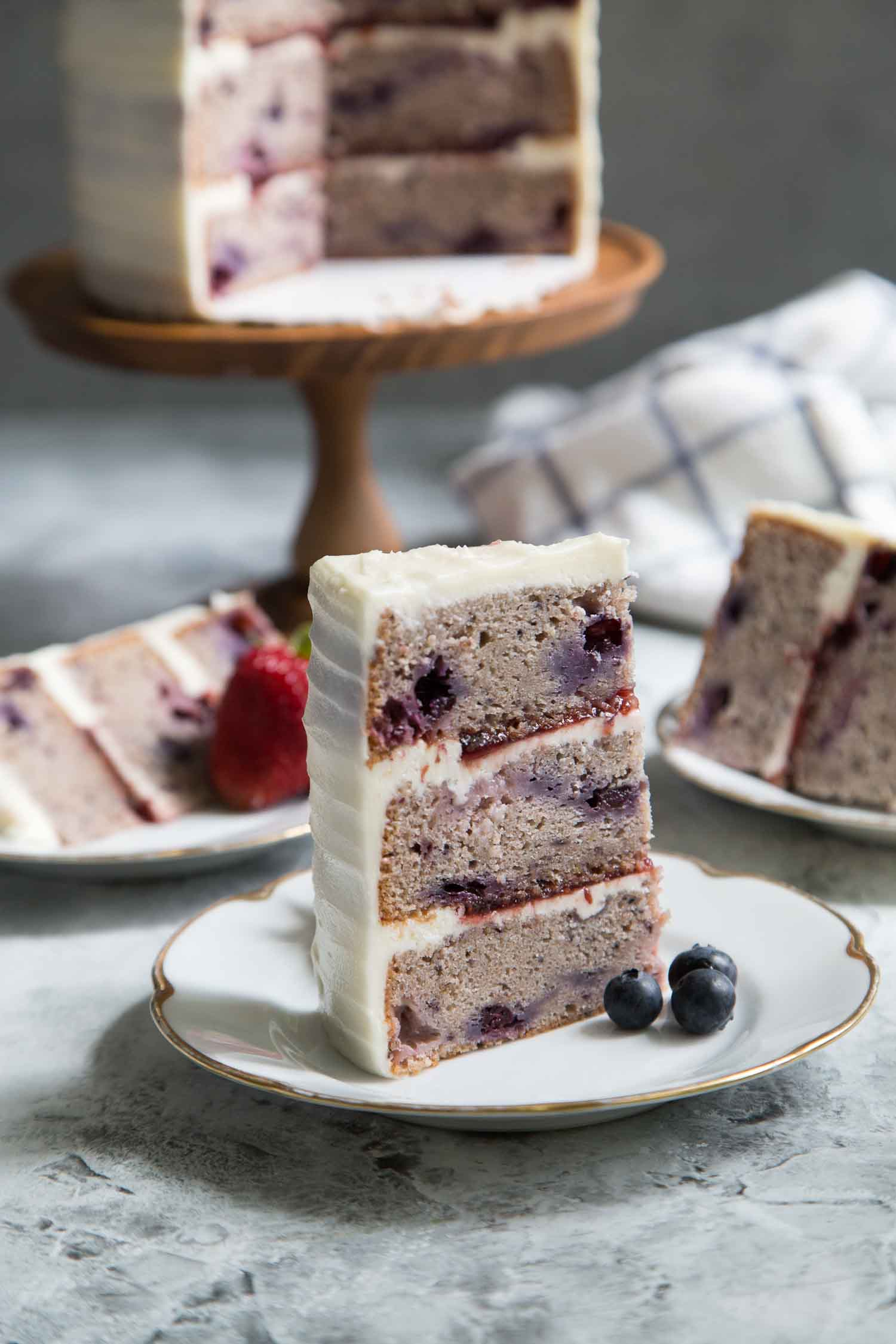 Mixed Berry Layer Cake