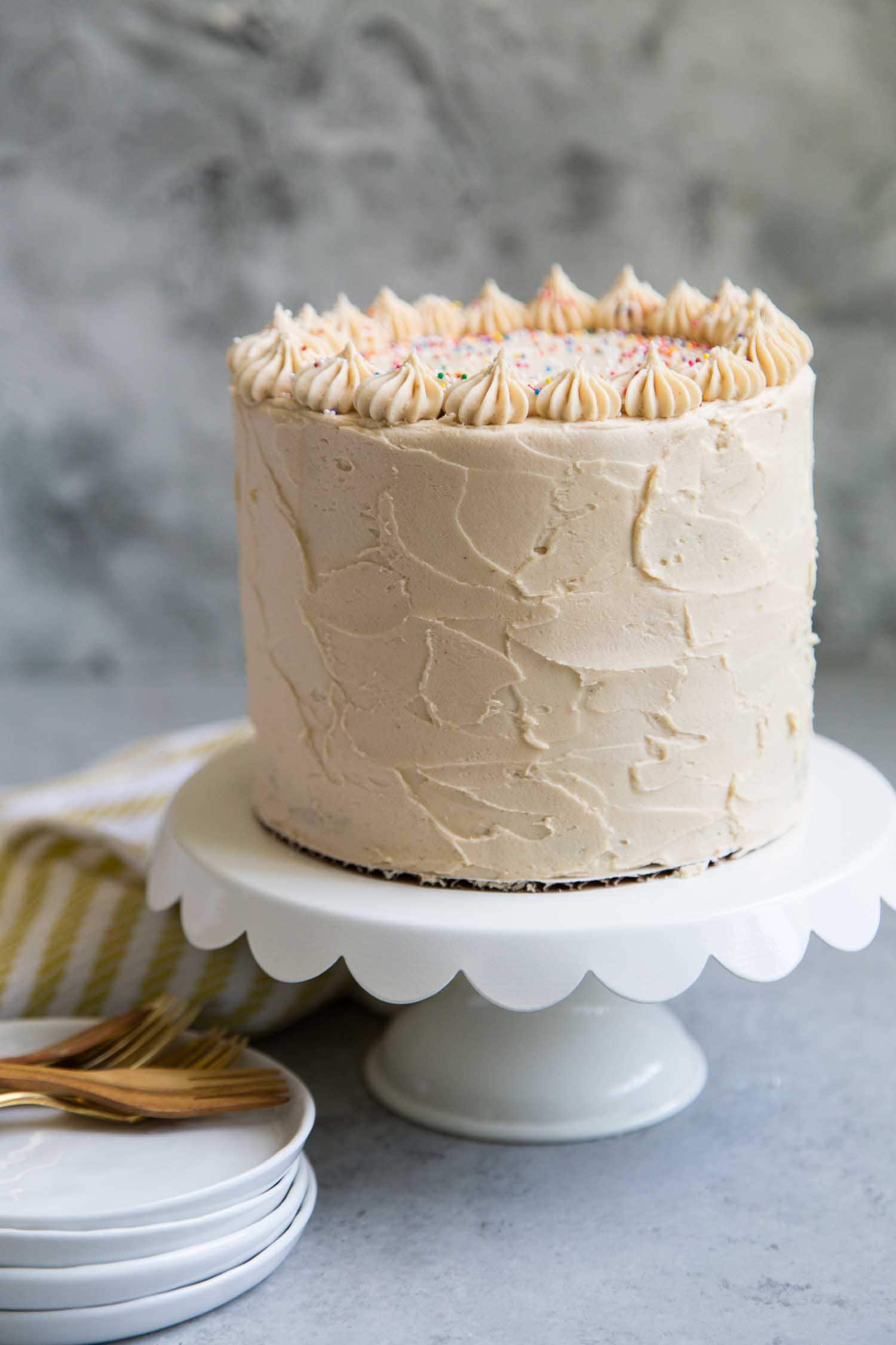Peanut Butter Banana Layer Cake