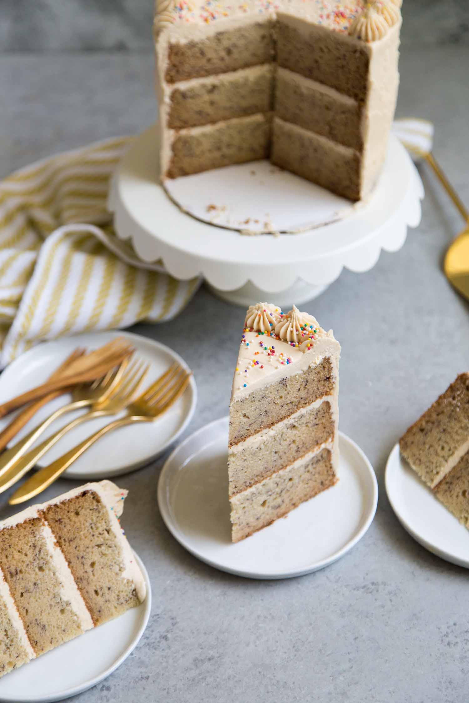 Peanut Butter Banana Layer Cake