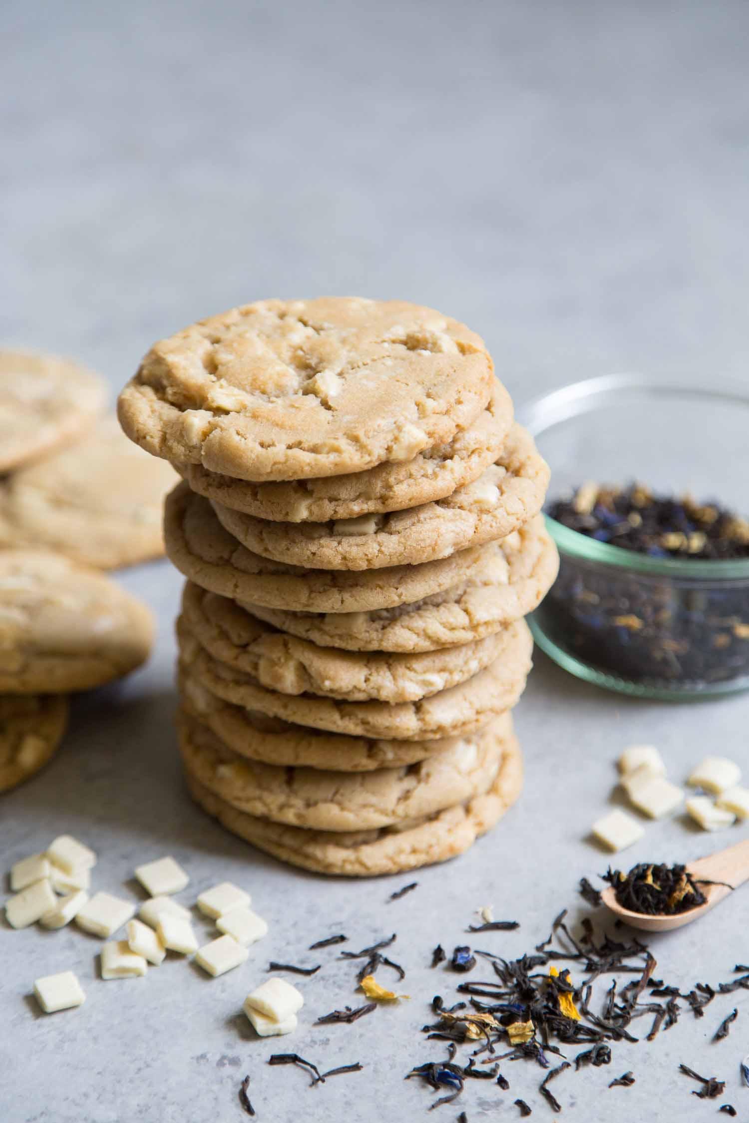 White Chocolate Earl Grey Cookies