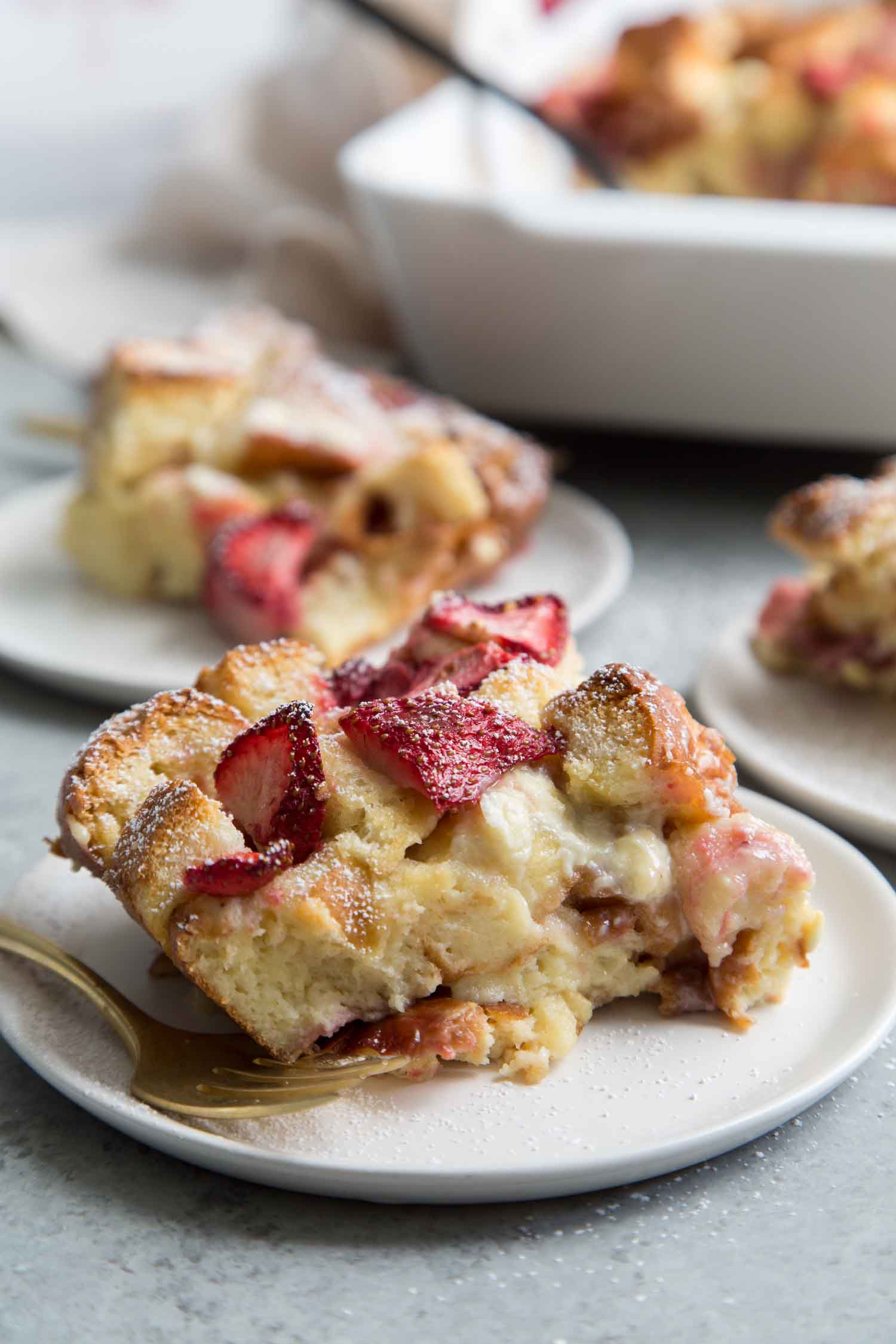 White Chocolate Strawberry Bread Pudding