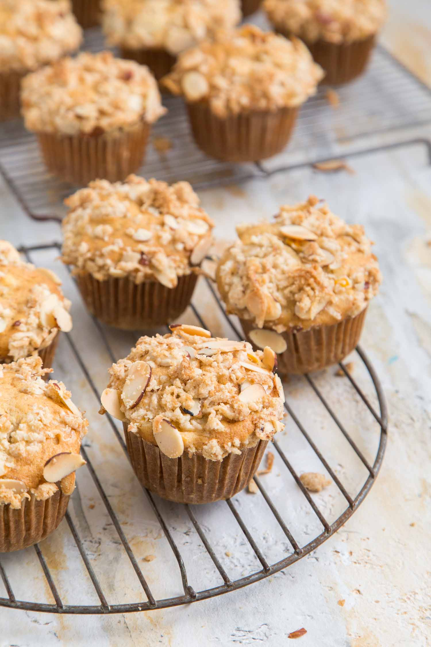 Banana Jackfruit Muffins with crumble topping