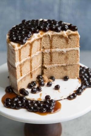 Boba Milk Tea Cake