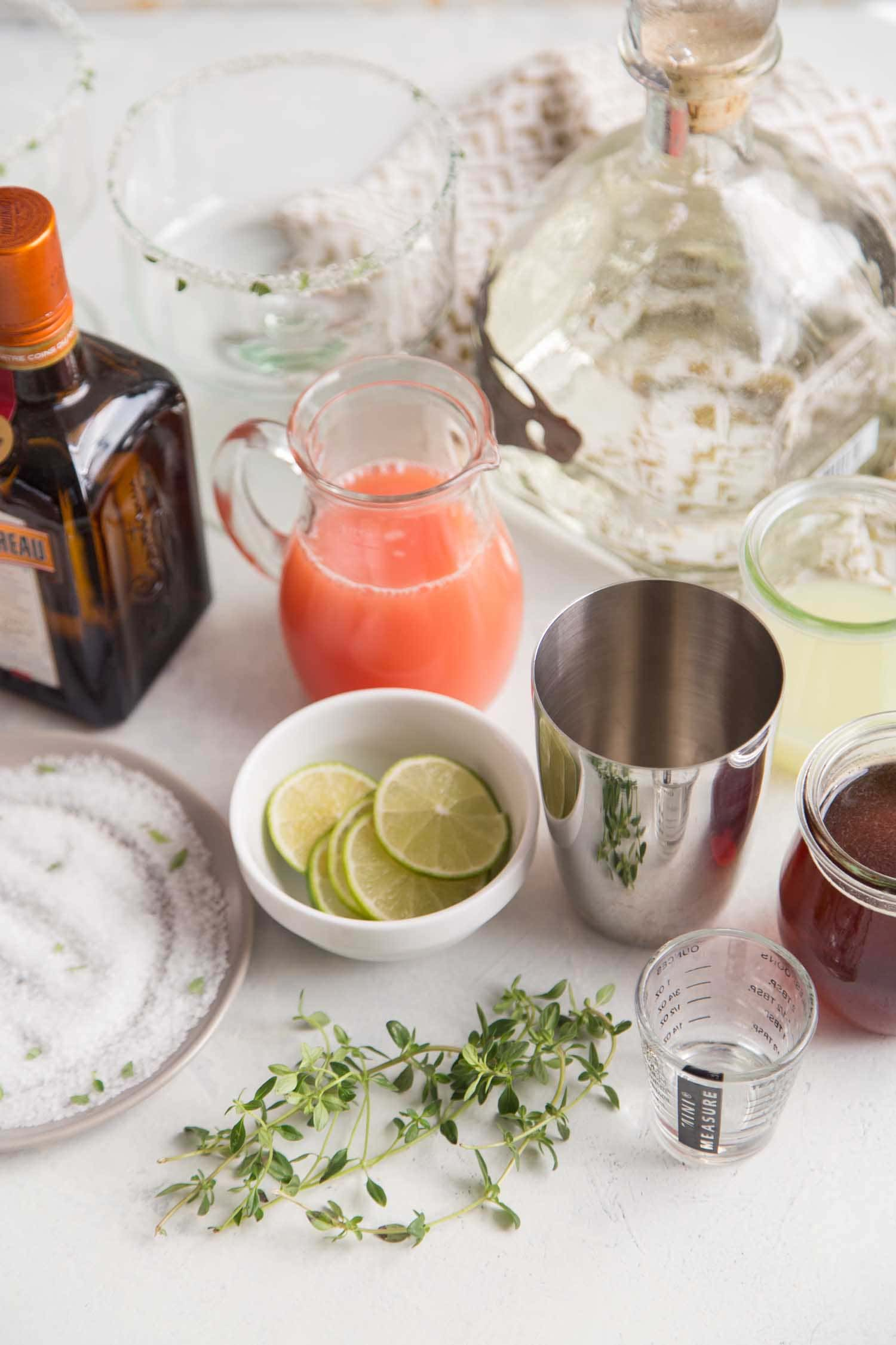 Honey Thyme Margarita Ingredients