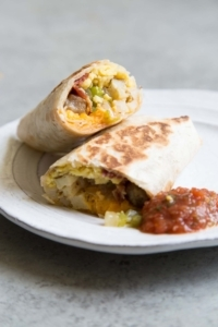 Sausage Bacon Breakfast Burrito