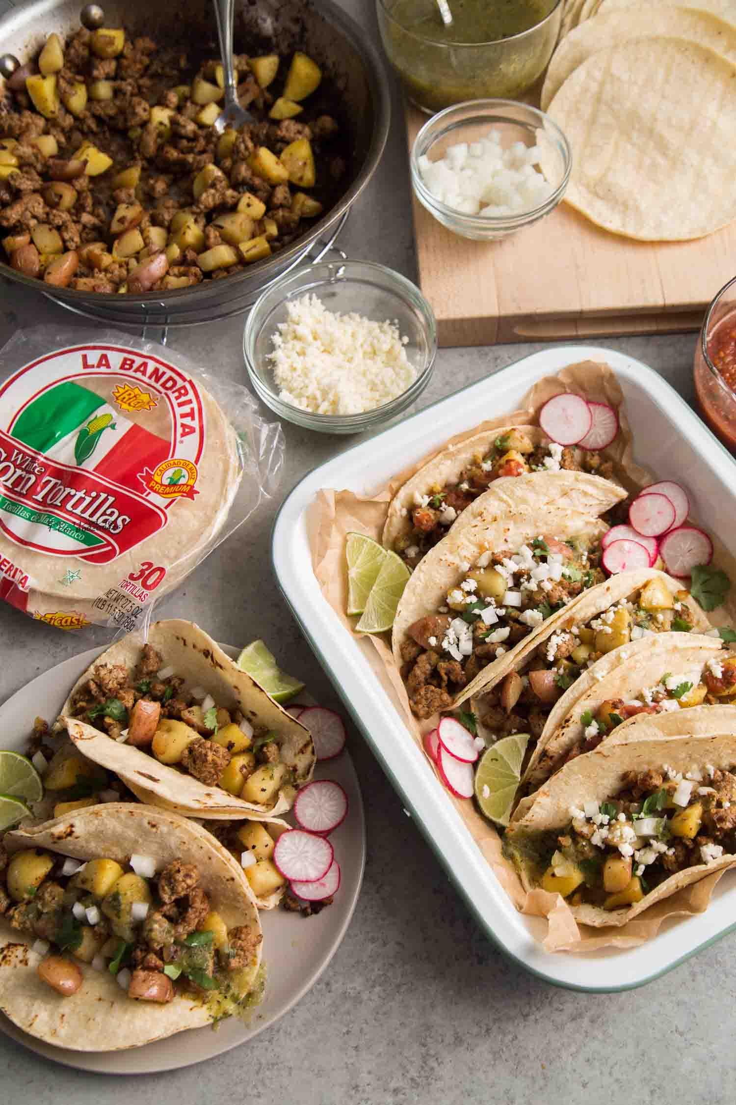 Chorizo Potato Tacos