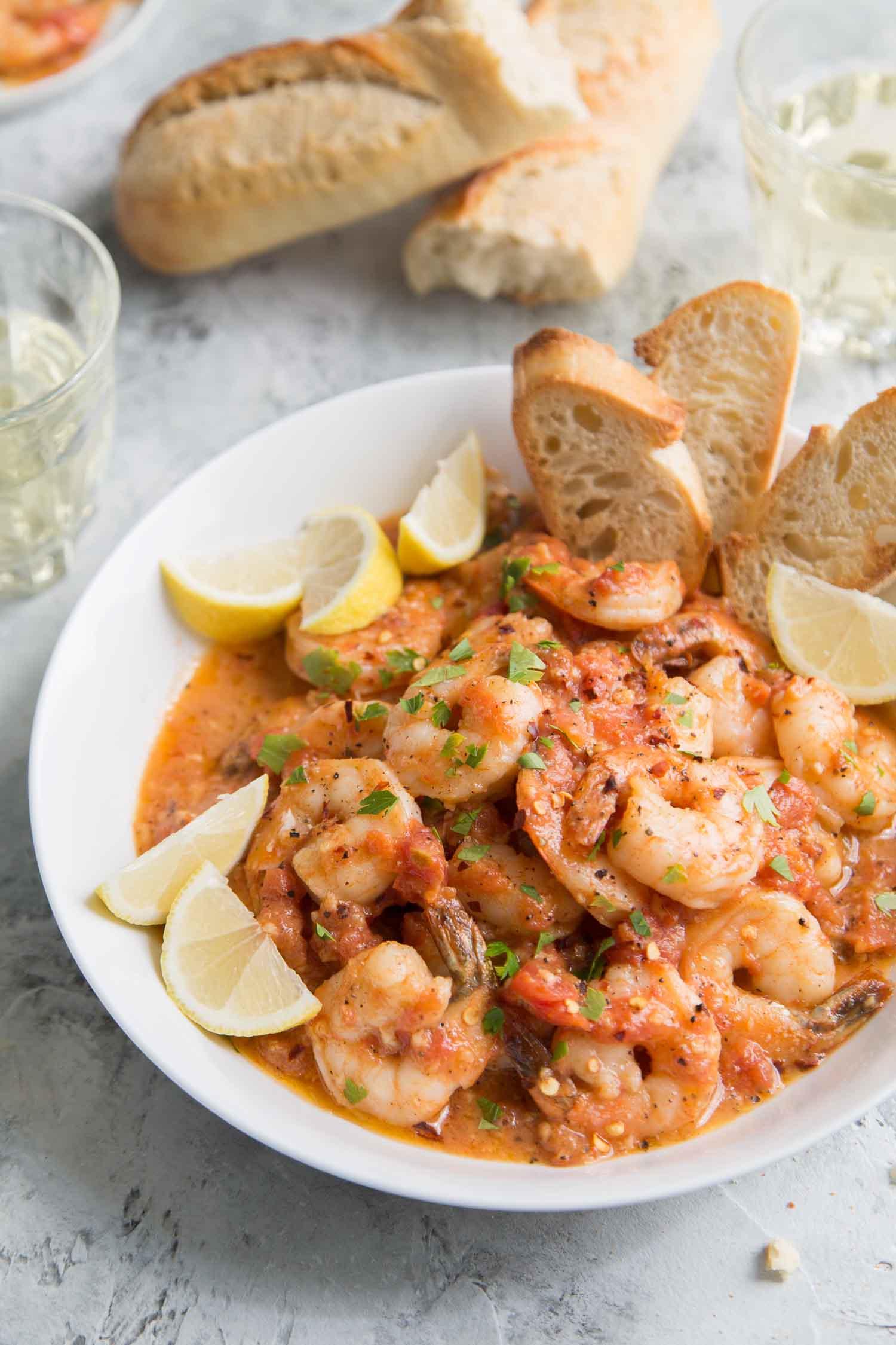 Tomato Shrimp Scampi