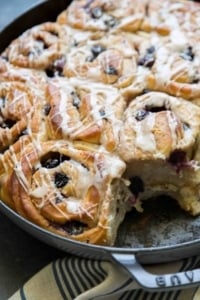 Sweet Blueberry Rolls
