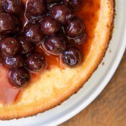 Ricotta Cheesecake Brandied Cherries