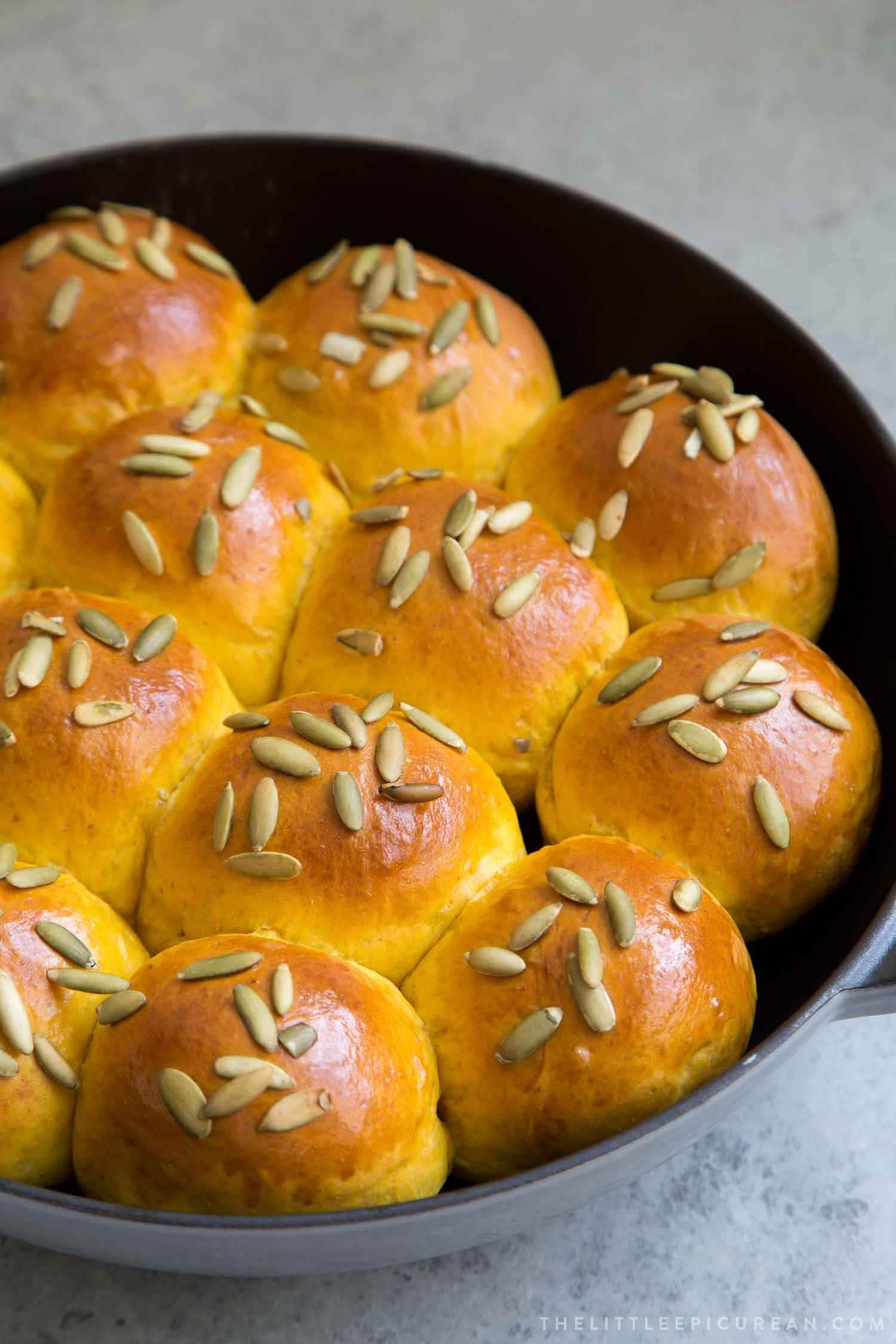 Pumpkin Sandwich Bread Rolls