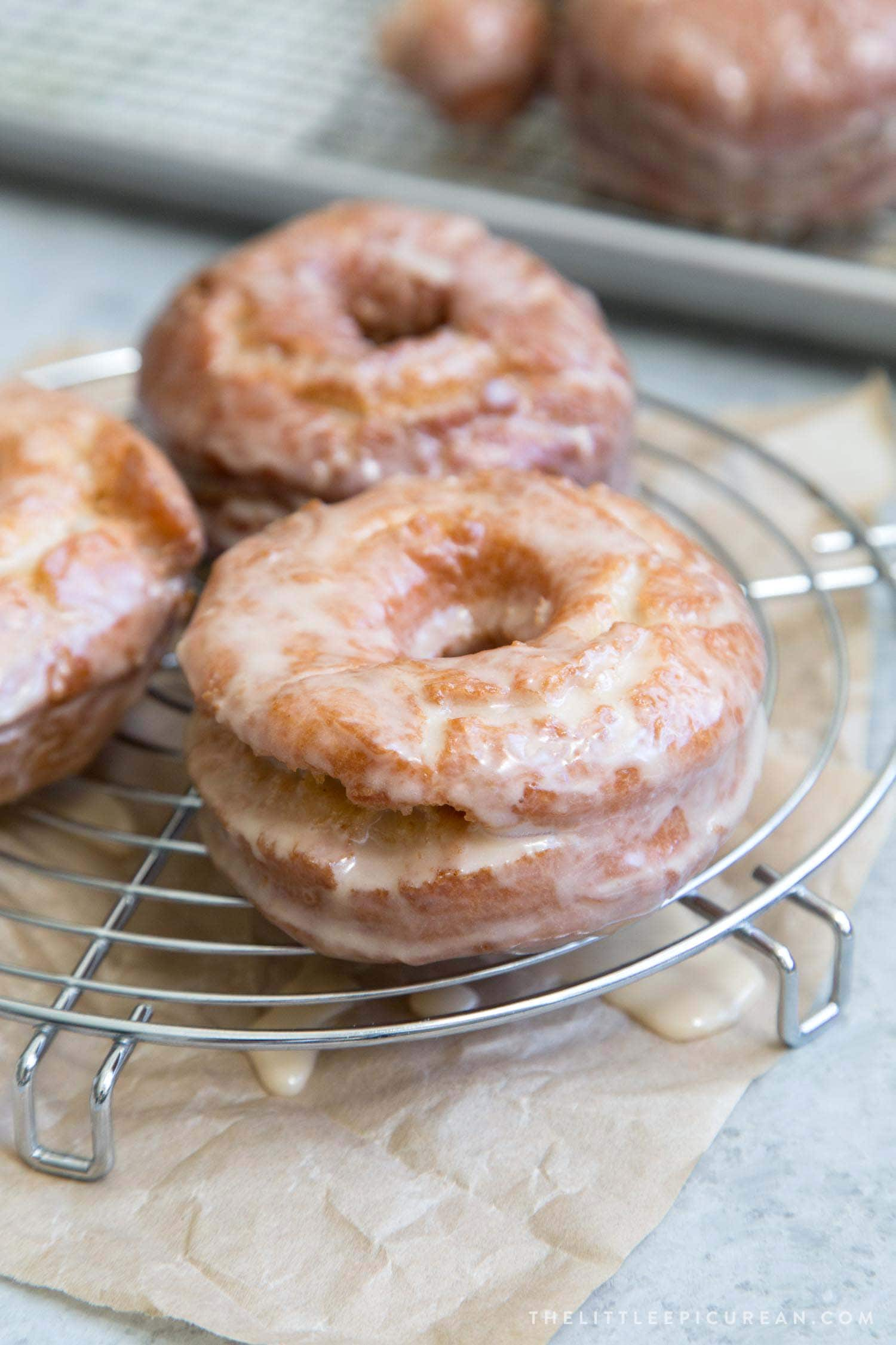Sweet Potato Cake Doughnuts with Maple Glaze