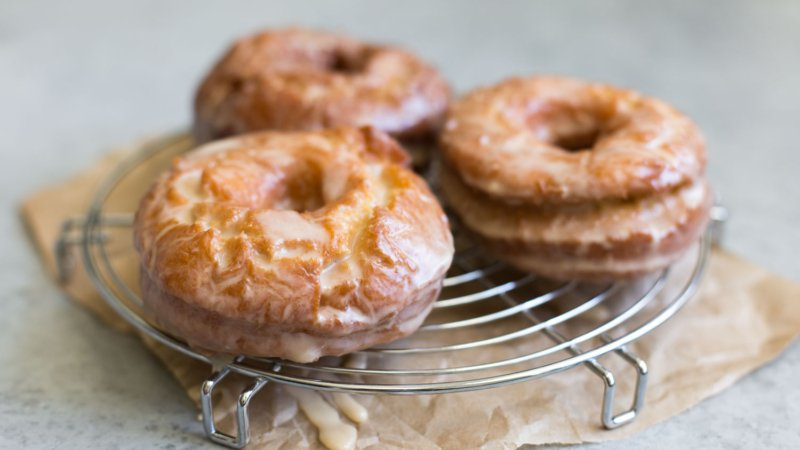 Sweet Potato Cake Doughnuts with Maple Glaze