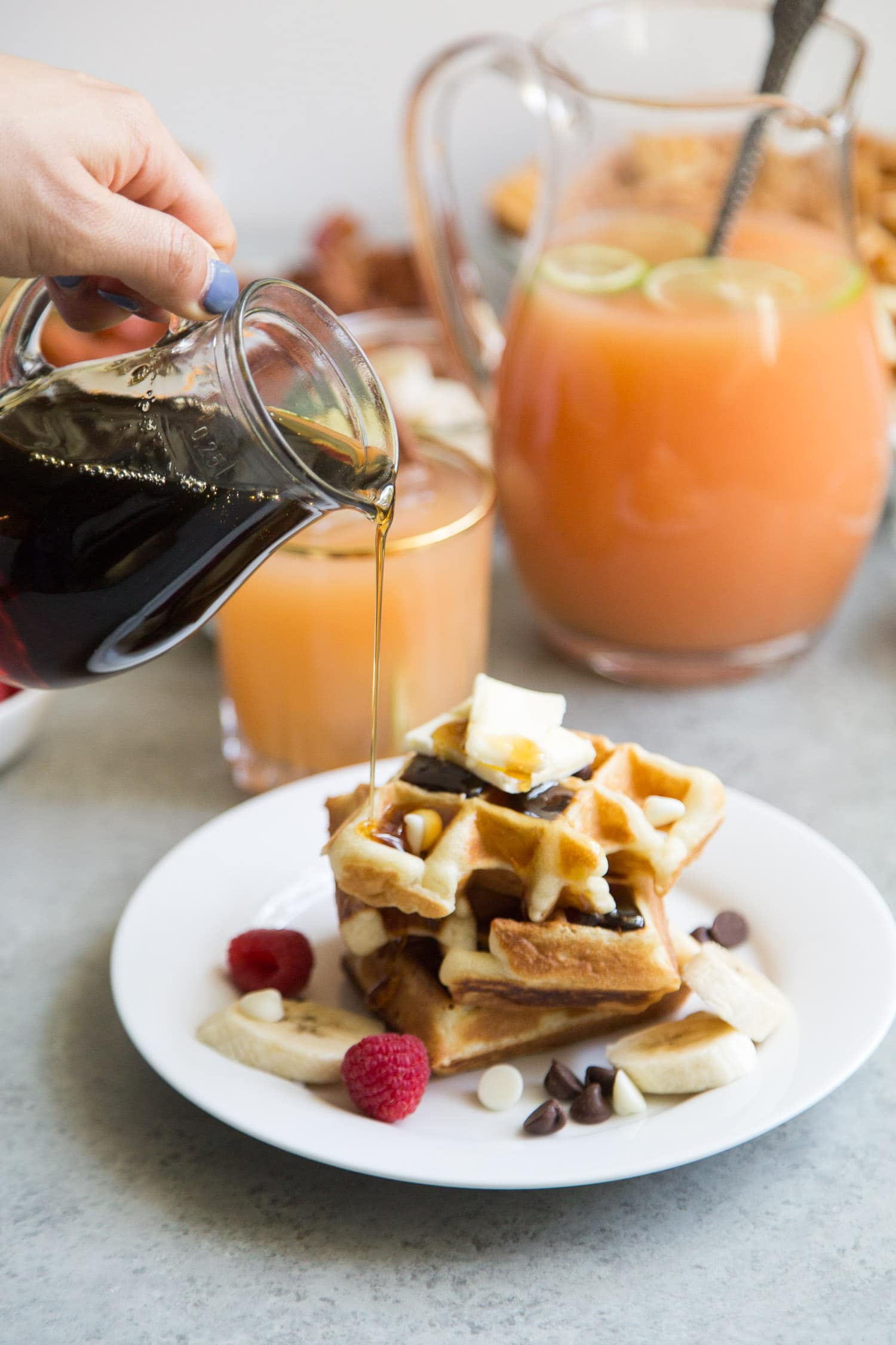 DIY waffle bar and spiced vodka punch