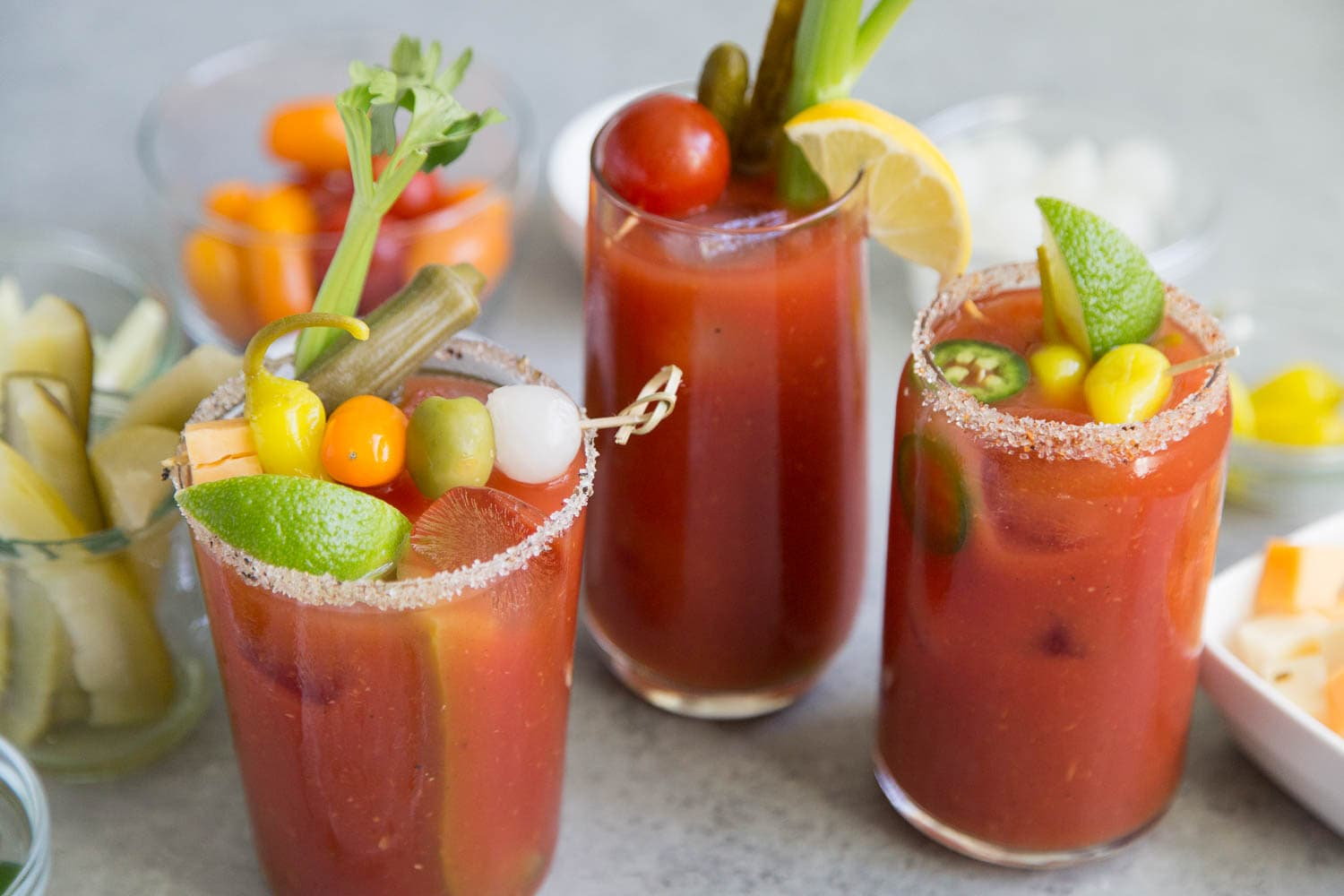 Bloody Mary Cocktail Three Ways