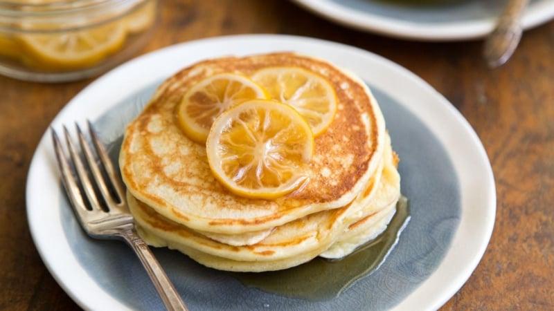 Meyer Lemon Ricotta Pancakes