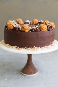 Chocolate Caramel Coconut Cake