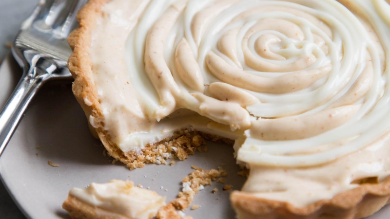 White Chocolate Peanut Butter Mousse Tart