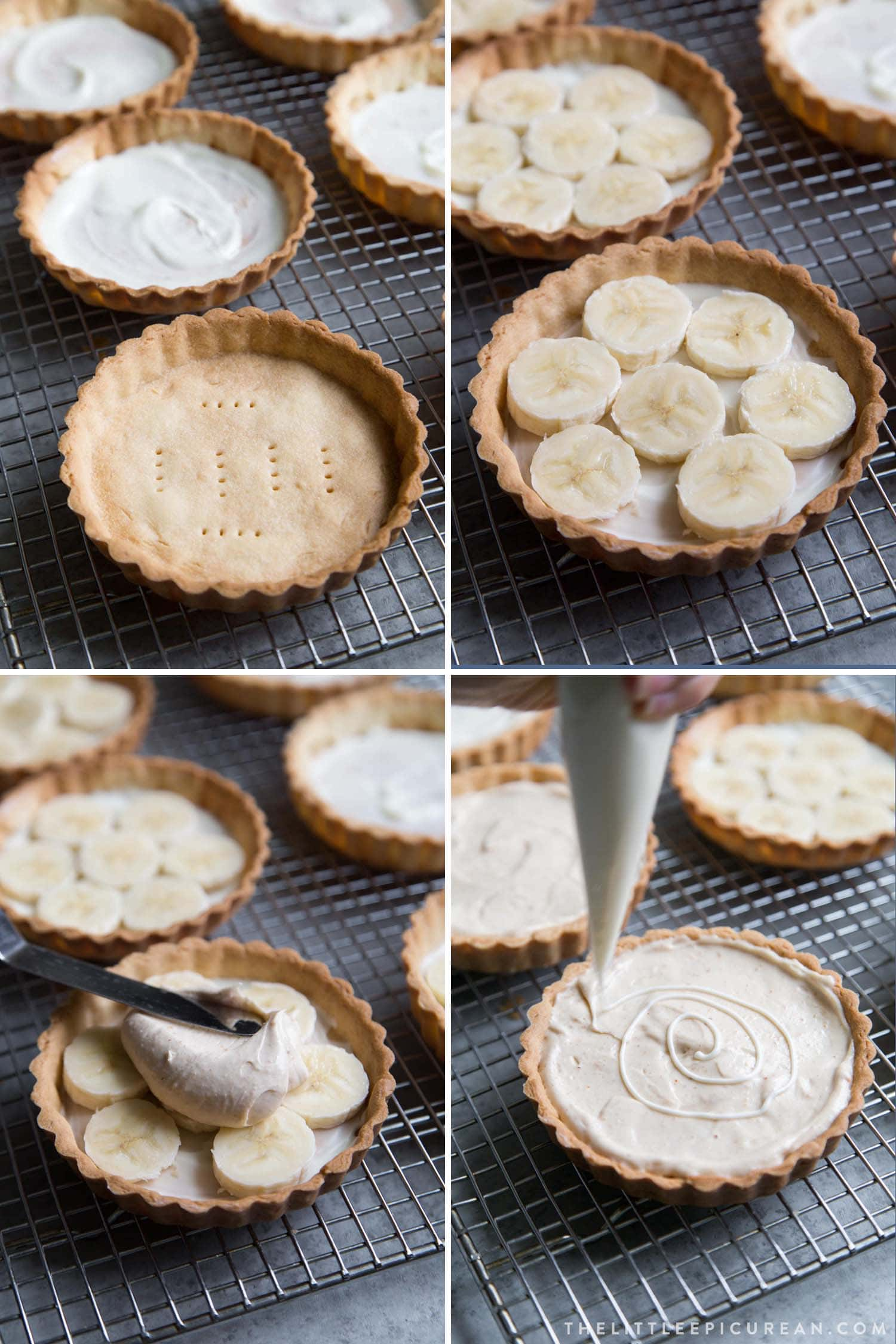 White Chocolate Peanut Butter Mousse Tarts