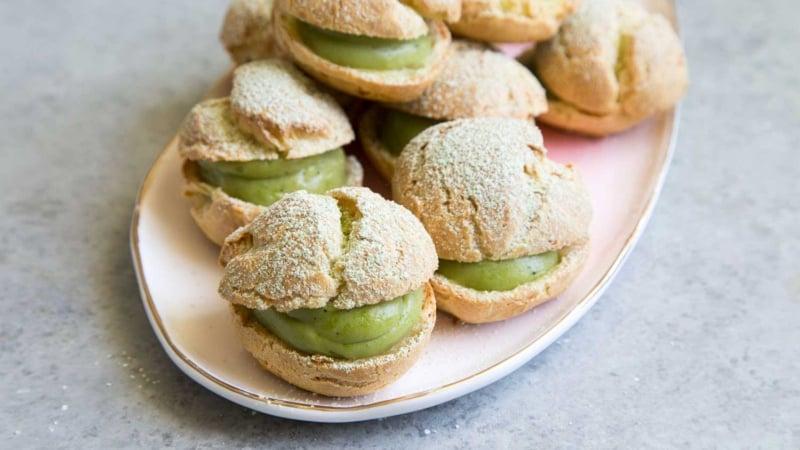 Matcha Cream Puffs