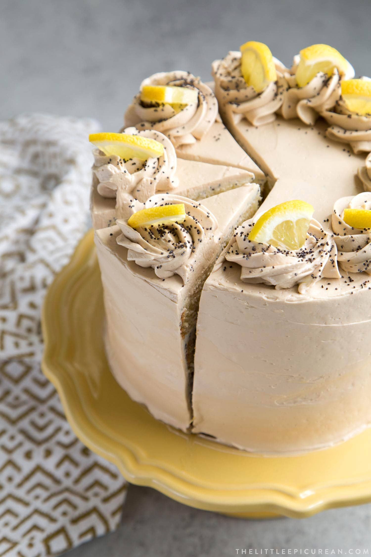 Poppy Seed Lemon Cake