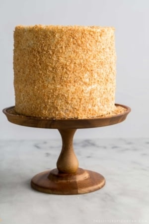 Toasted Coconut Cream Cake