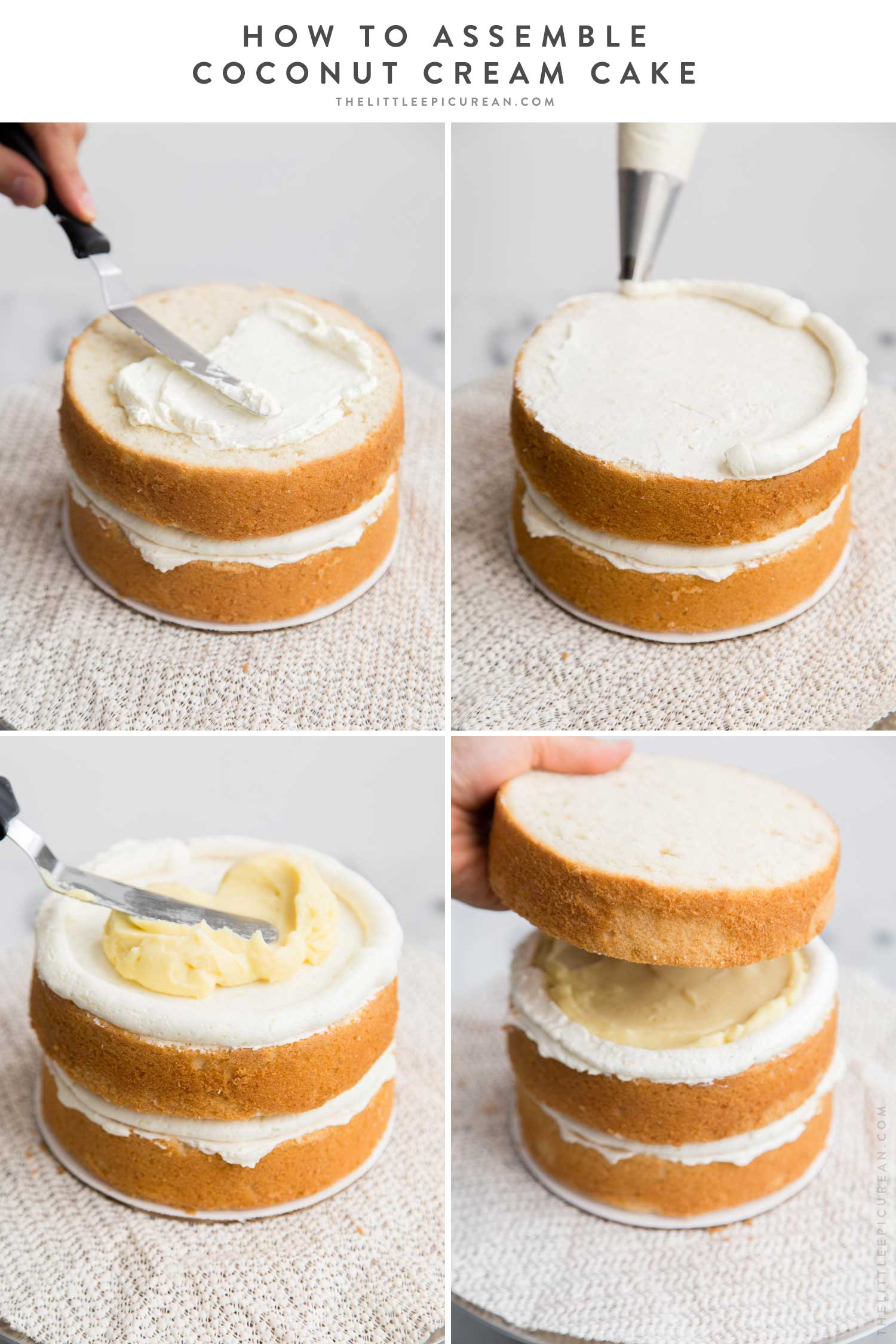 How to Assemble Coconut Cream Cake