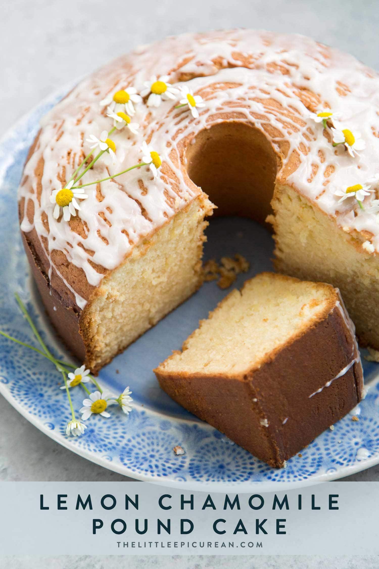 Lemon Chamomile Pound Cake