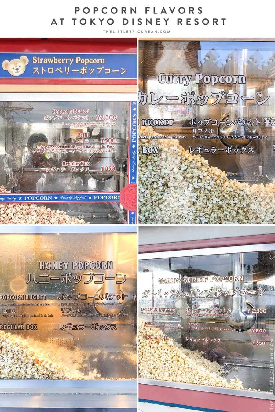Guide to Popcorn Flavors at Tokyo Disney Resort