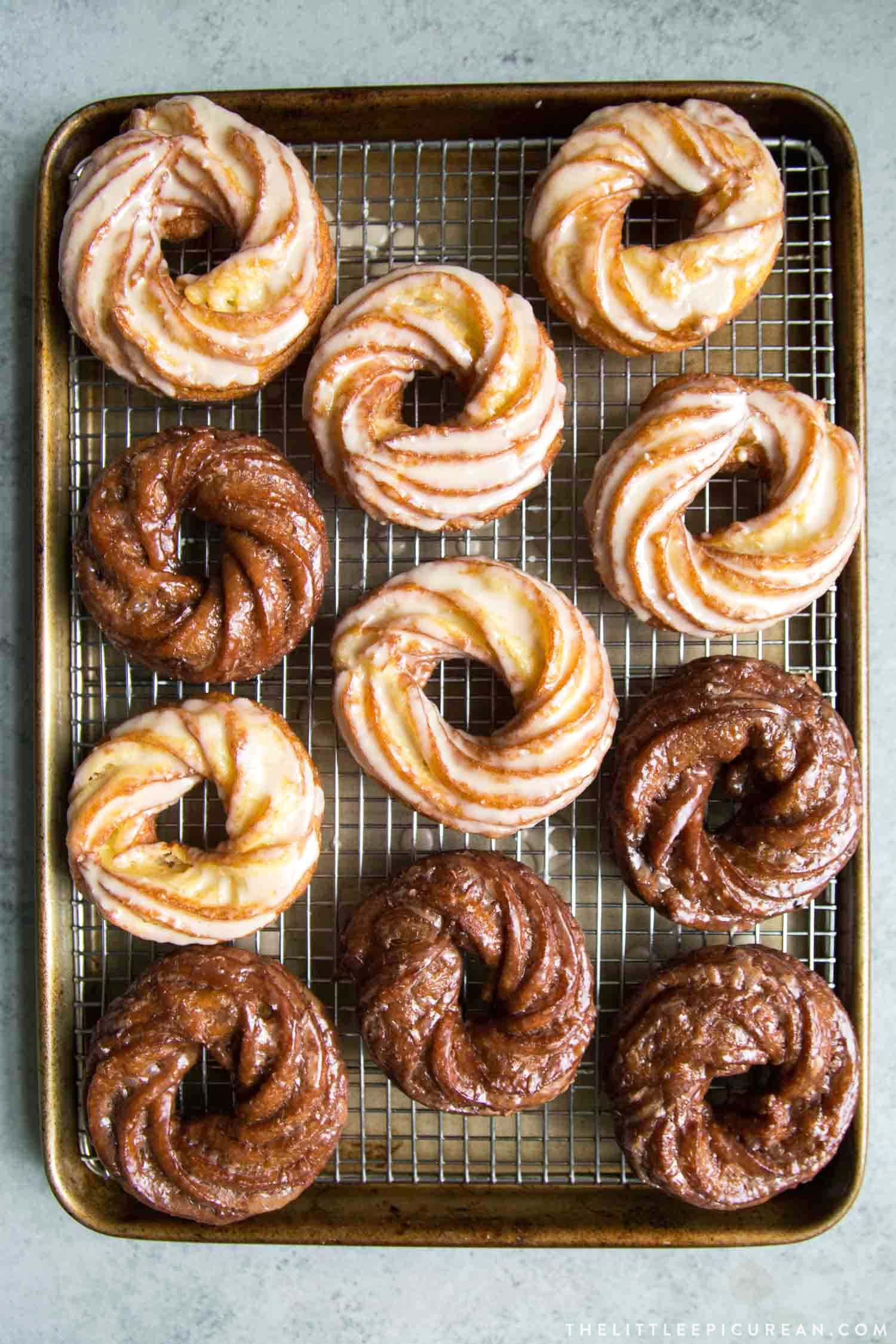 Assorted Crullers Doughnuts