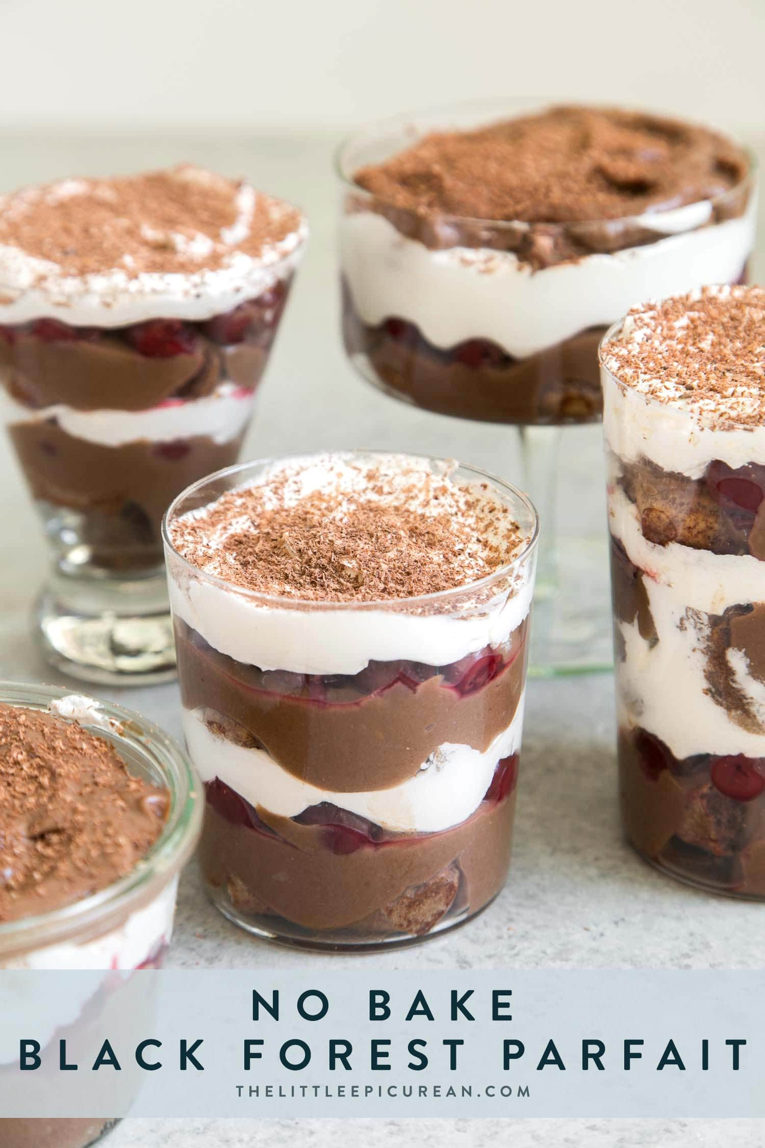 No Bake Black Forest Parfait