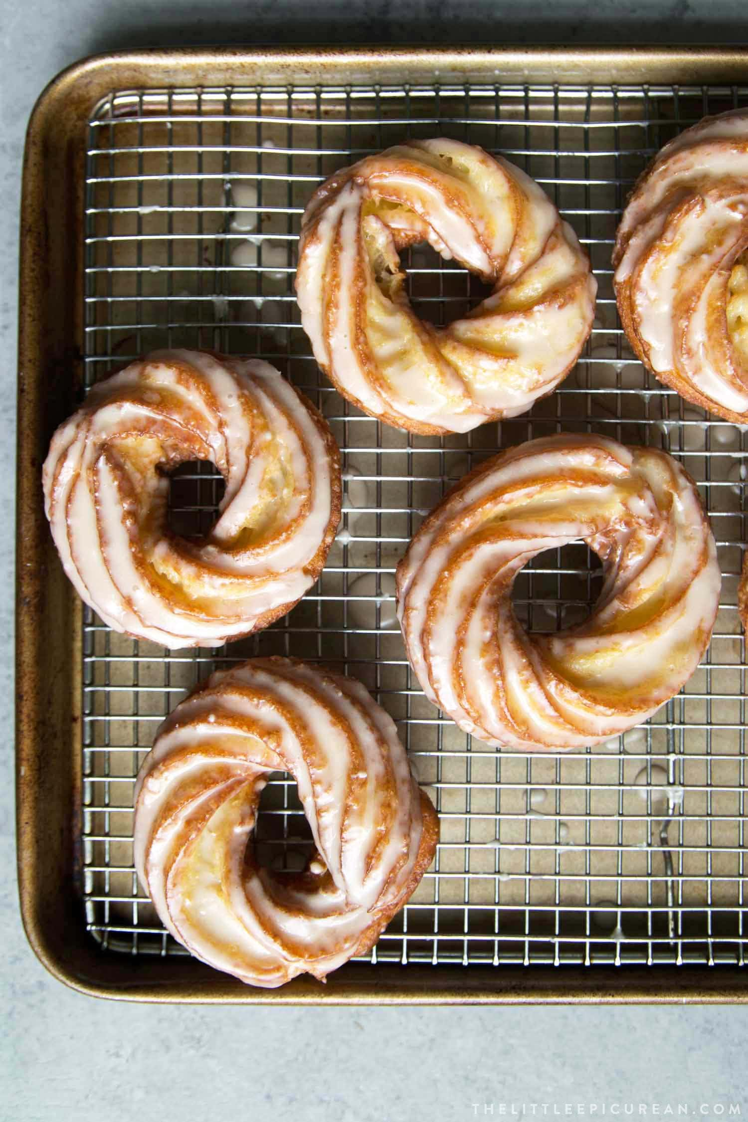 Maple Glazed Crullers
