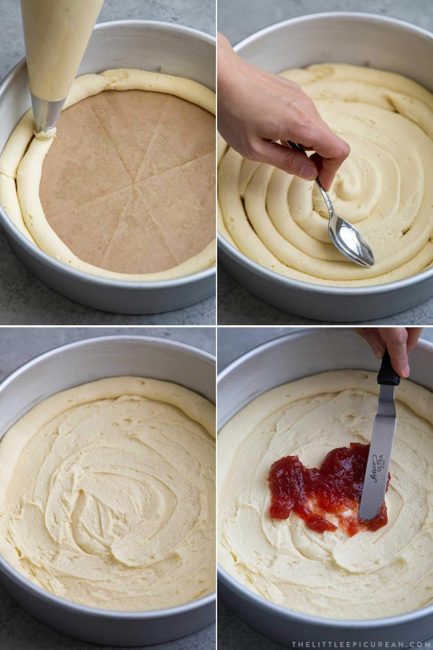 How to Make Basque Cake using piping bag