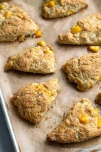 Brown Butter Peach Scones fresh from the oven.