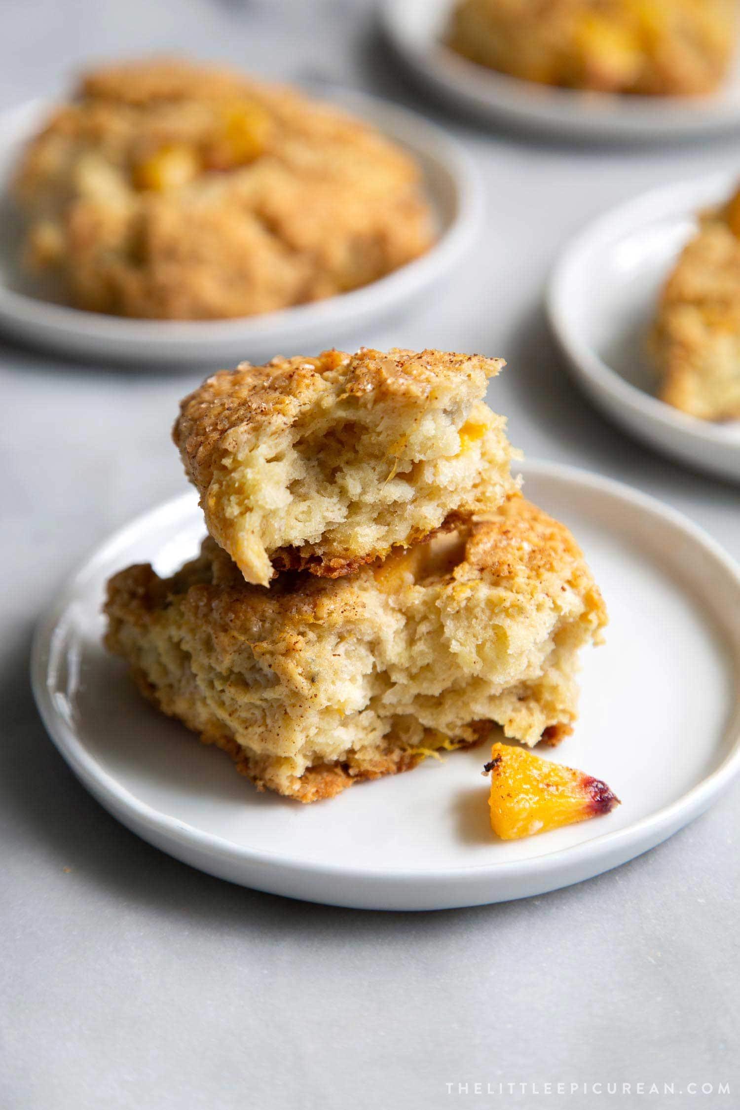 Brown Butter Peach Scones.