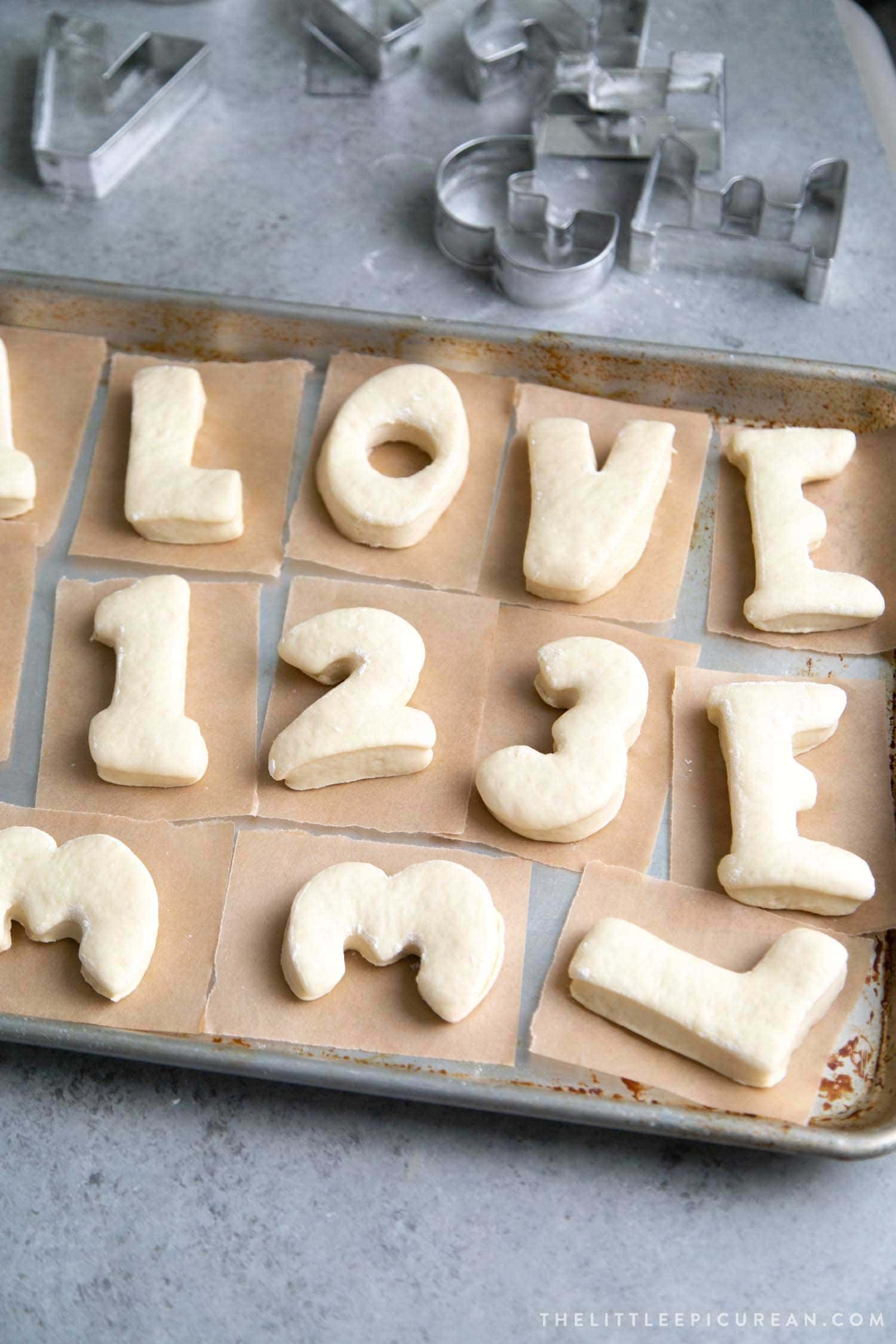 DIY alphabet donuts or letter donuts make with yeast donuts