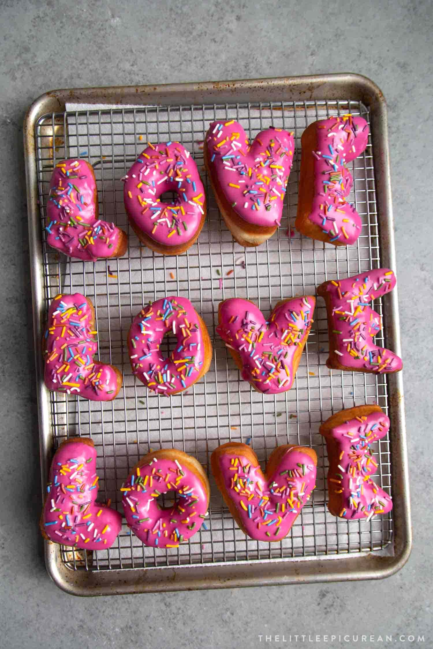Letter Donuts