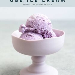 No Churn Ube (Purple Yam) Ice Cream. This easy homemade version is flavored using ube halaya (purple yam jam).