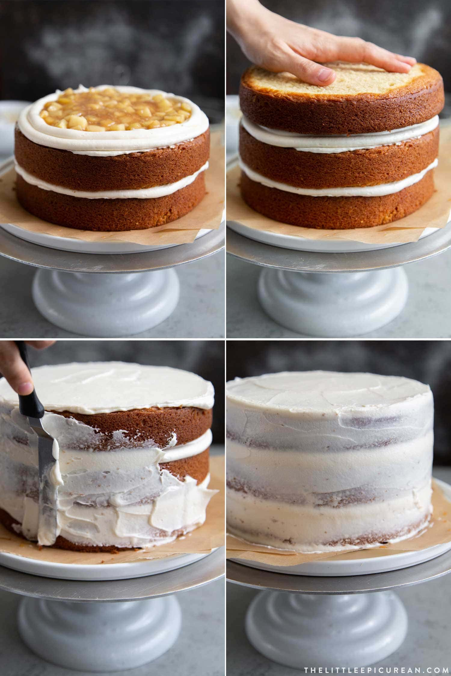 How to fill and assemble Apple Cider Layer Cake