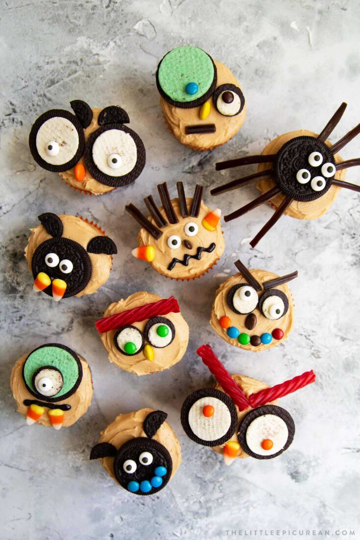 Easy Halloween Cupcakes (Peanut Butter Cupcakes)