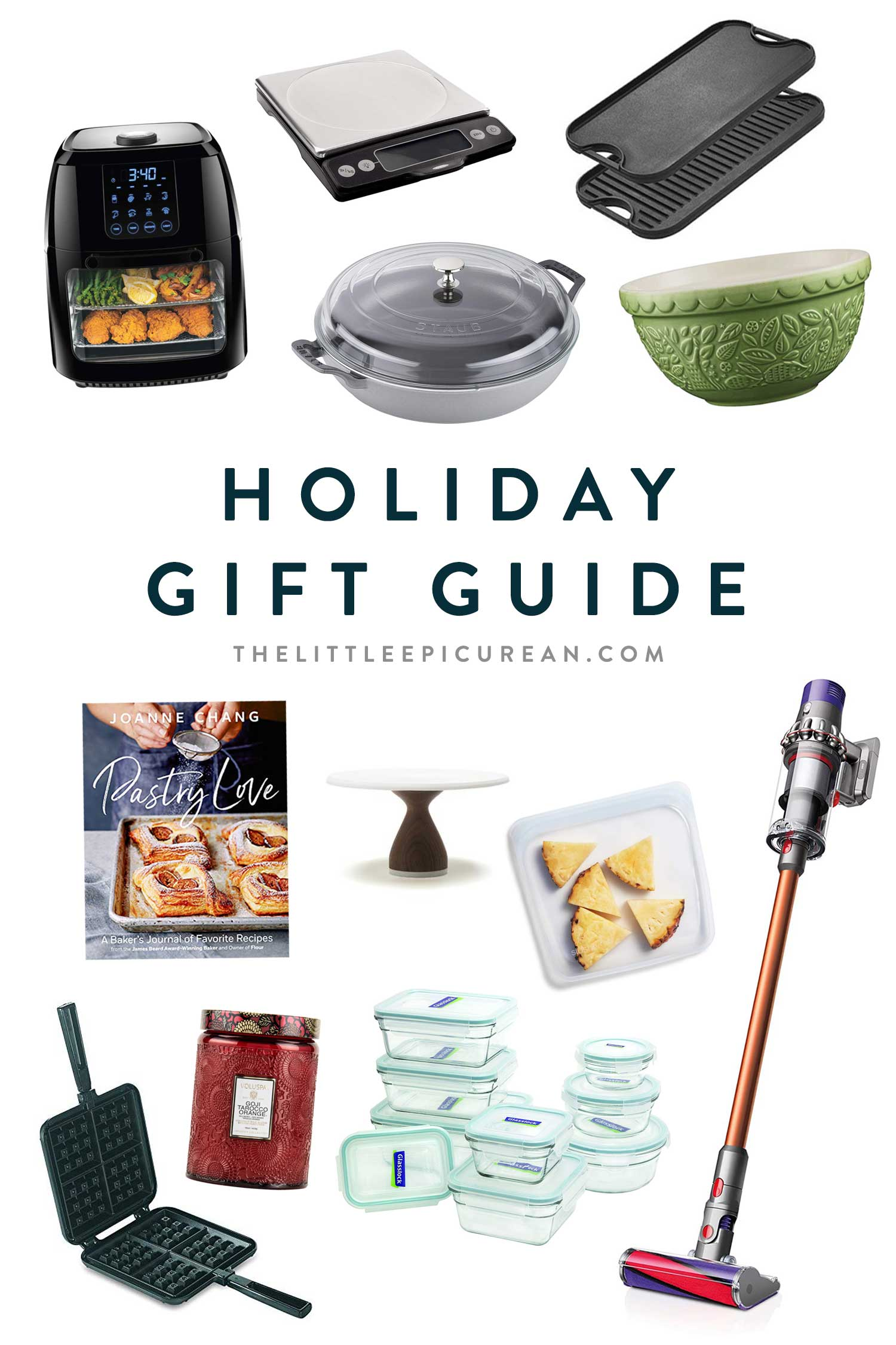 Holiday Gift Guide for Foodies, Cooks, and Bakers #holiday #giftgiving #kitchengadgets #giftguide